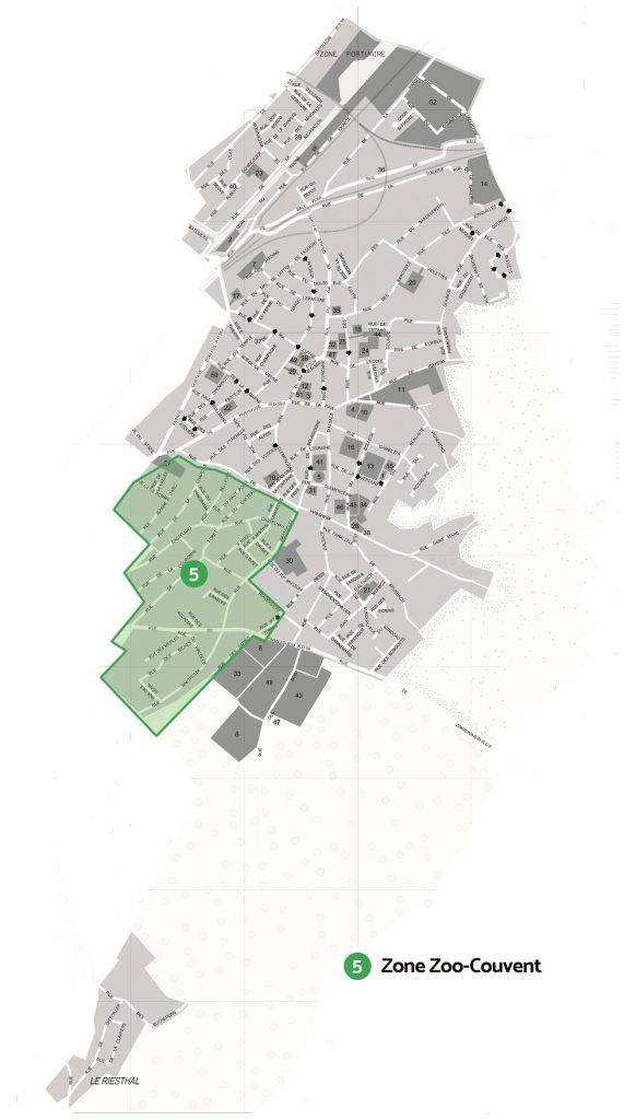 Carte de la zone E zoo couvent