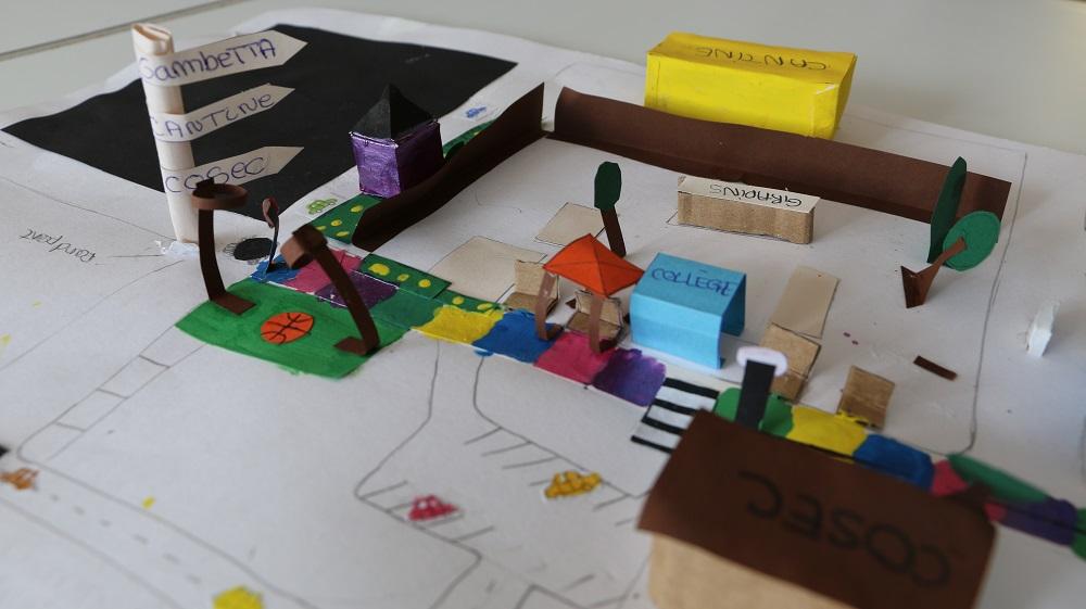 Maquette du projet d'urbanisme