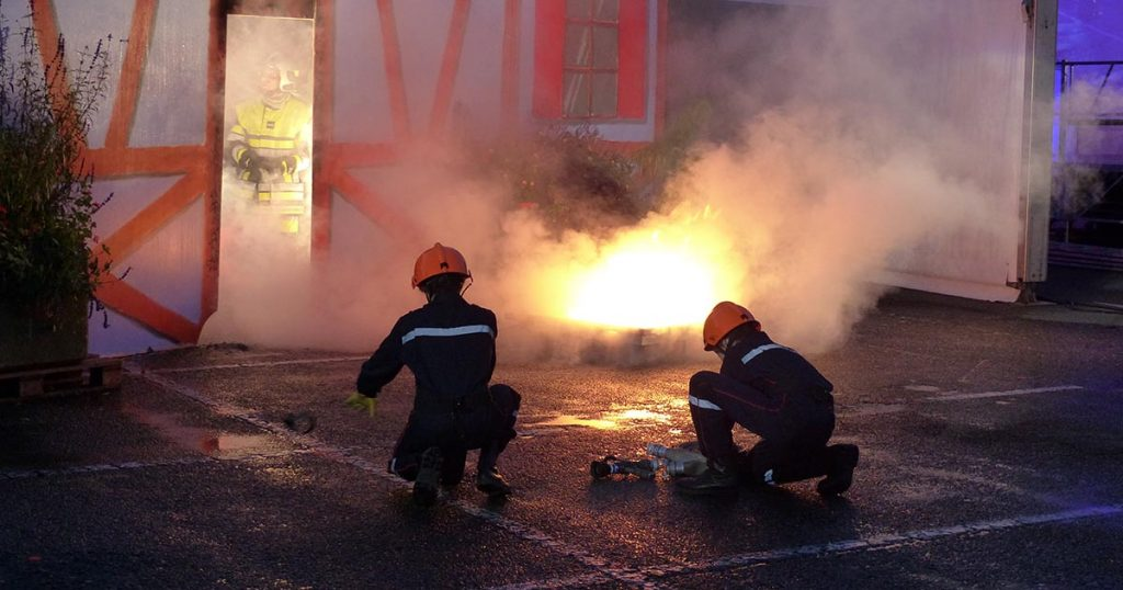 Pompiers de Riedisheim en intervention