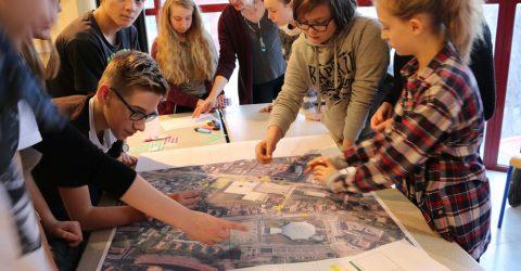 Maquette du projet d'urbanisme réalisée par les 4ème C du Collège Gambetta